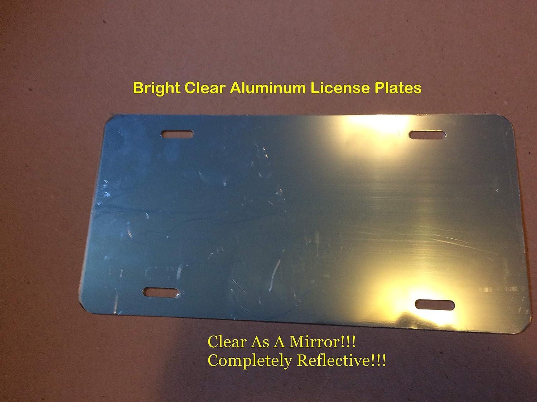 "20 BLANK MIRROR CHROME LICENSE PLATES ALUMINUM 6/""x12/"" NEW TAG FOR CAR TRUCK"