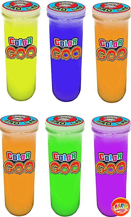12 Pc Crystal Mud Glitter Slime Asst Animal Face Containers Stretch Colorful Toy