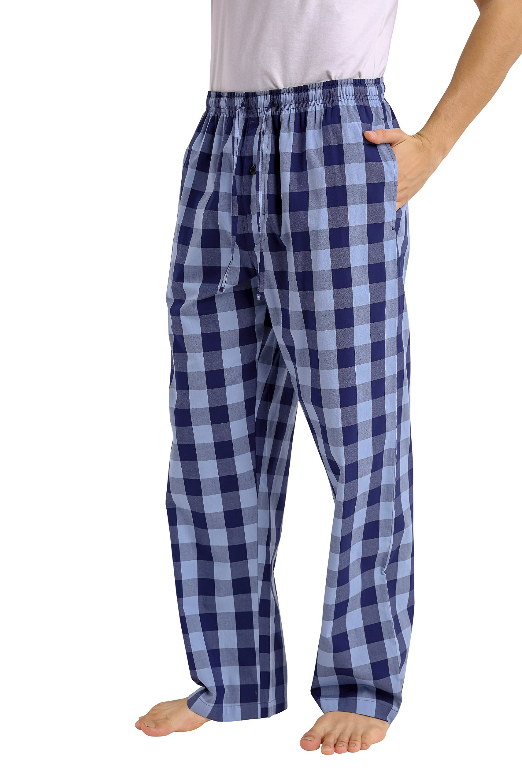 CYZ Men's 100% Cotton Poplin Pajama Lounge Sleep Pant-F1710-L by CYZ Collection