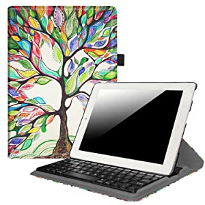 Fintie iPad 2/3/4 Keyboard Case - 360 Degree Rotating Stand Cover with Built-in Wireless Bluetooth Keyboard