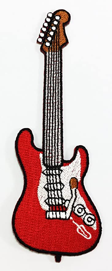 Rock Guitar EMBROIDERY Sew//Iron On Patch