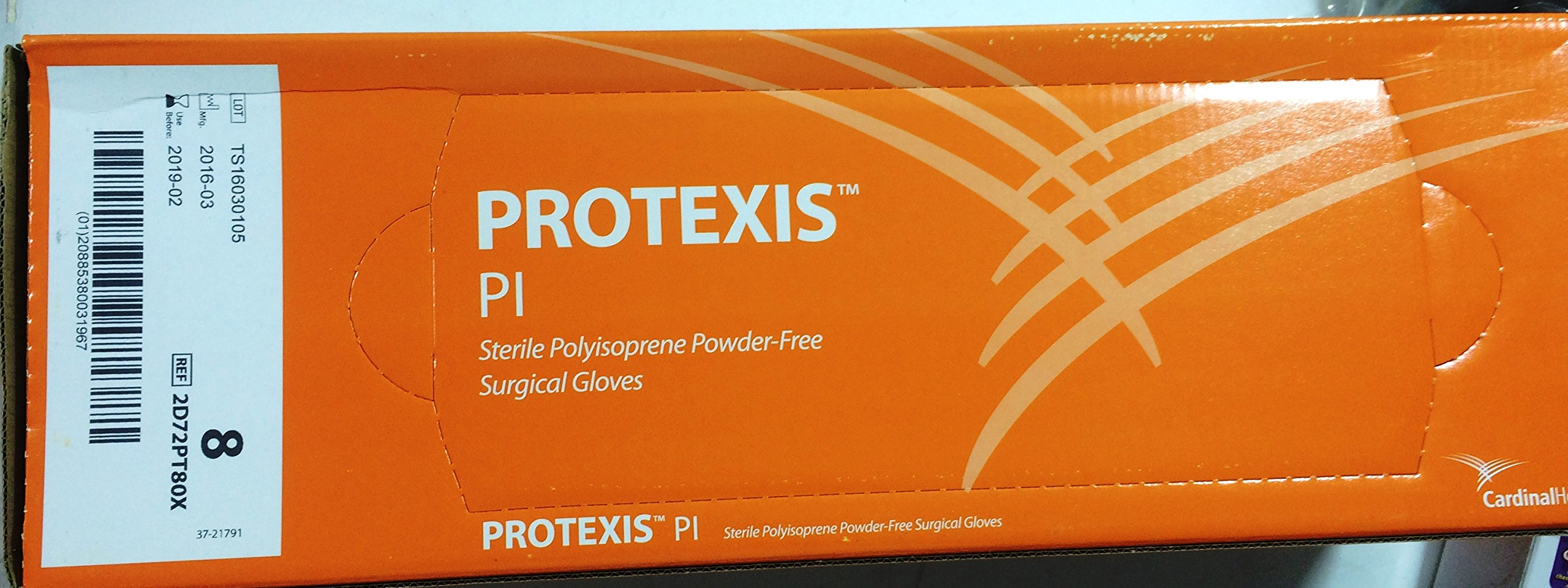 Cardinal Health 2D72PT80X Protexis PI PF Surg Glove Size 8 50Pr/Bx