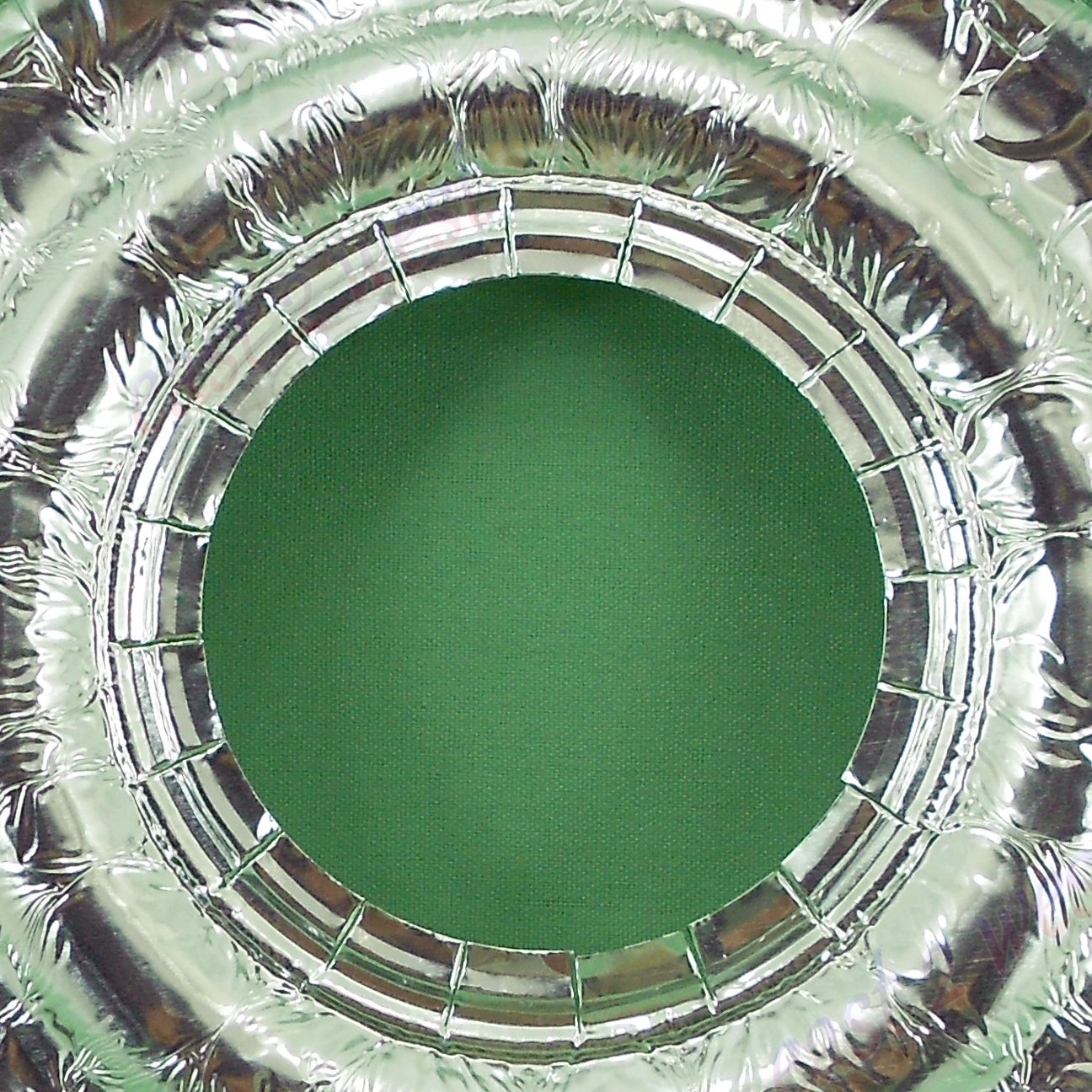 100 UNIVERSAL Round Aluminum Foil Gas Burner Bib Liners Covers Disposal Round 100