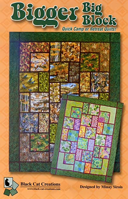 Amazon Bigger Big Block Quilt Pattern For Large And Scenic