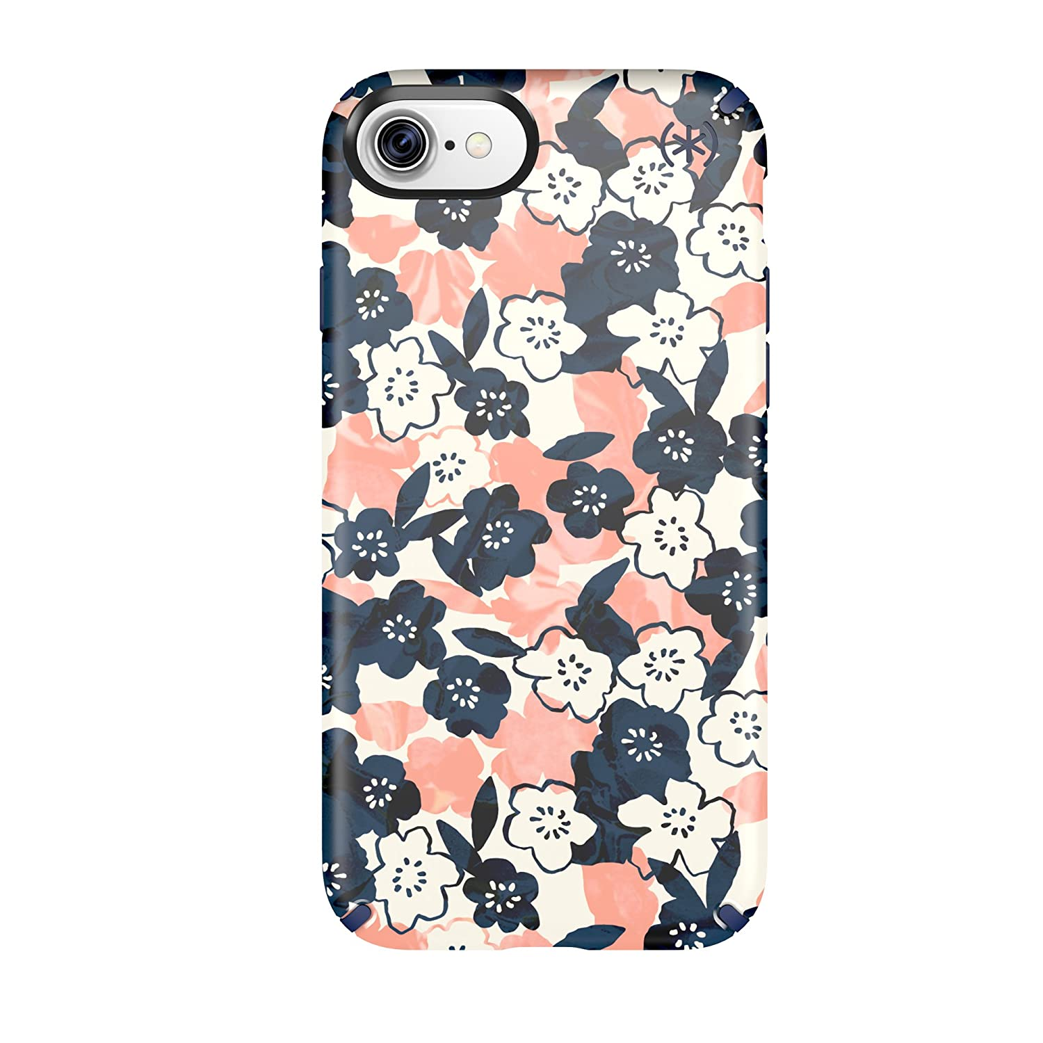 brand new c67e1 3626d Speck 79990-5760 Presidio Inked Cell Phone Case for iPhone 7 - Marbled  Floral Peach Matte/Marine Blue
