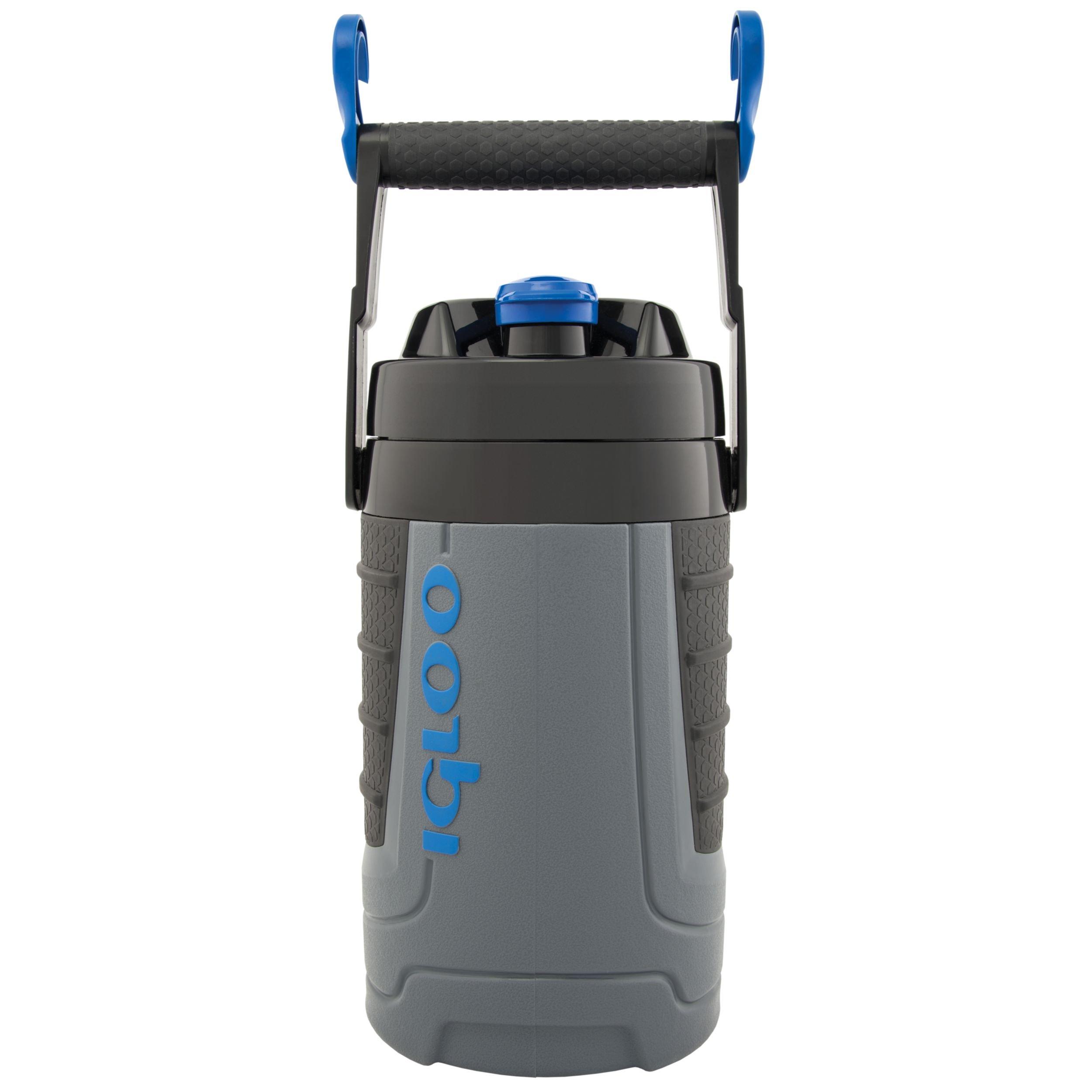 Igloo Proformance(Tm) 1/2 Gallon Insulated Sports Jug, Gray/Black/Black/Royal Blue, 64 Oz.