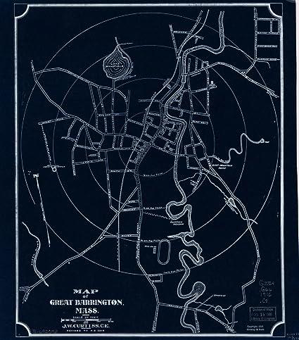 Amazon vintography 18 x 24 blueprint style reproduced old map vintography 18 x 24 blueprint style reproduced old map 1919map great barrington mass curtiss malvernweather Choice Image