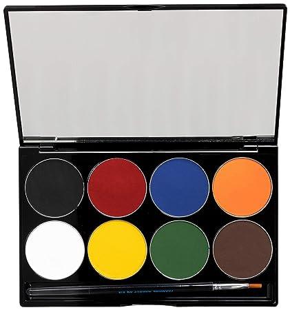 Mehron Makeup Paradise AQ Face Body Paint 8 Color Palette Basic