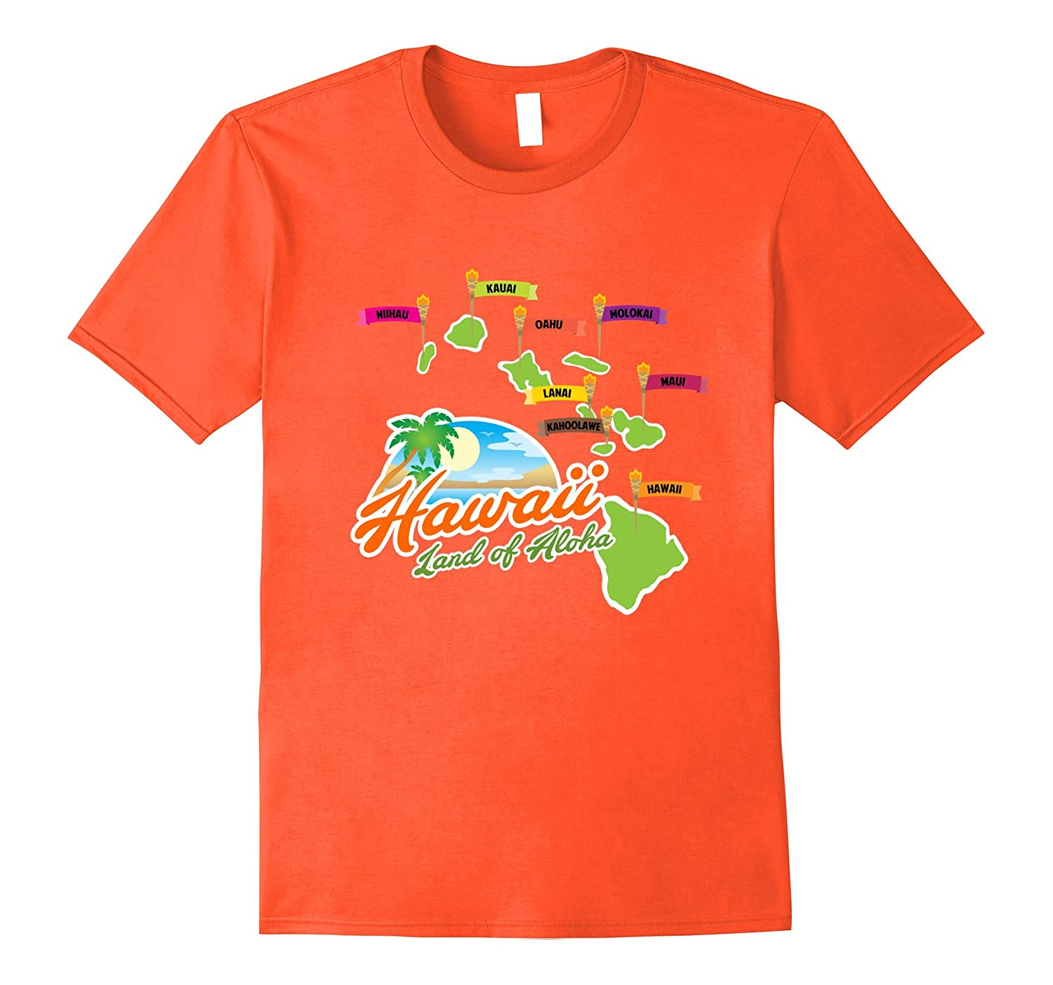 411dc8e960 Hawaiian Islands T-Shirt – Hawaii Land of Aloha Graphic Tee-FL