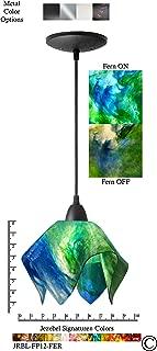 product image for Jezebel Signature JRBL-FP12-FER Black Flame Pendant, Small, Fern
