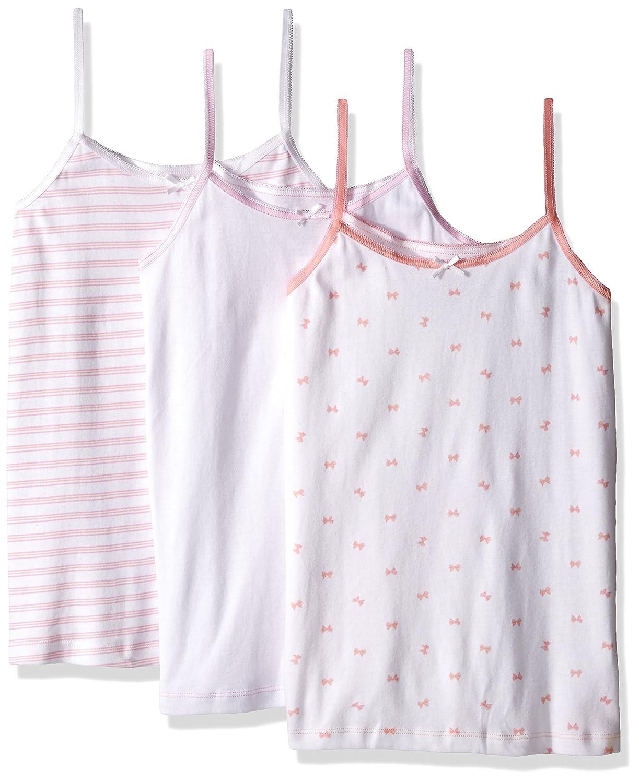 Trimfit Girls' 100 Percent Cotton Tagless Assrt Cami Undershirt (Pack of 3), 82011