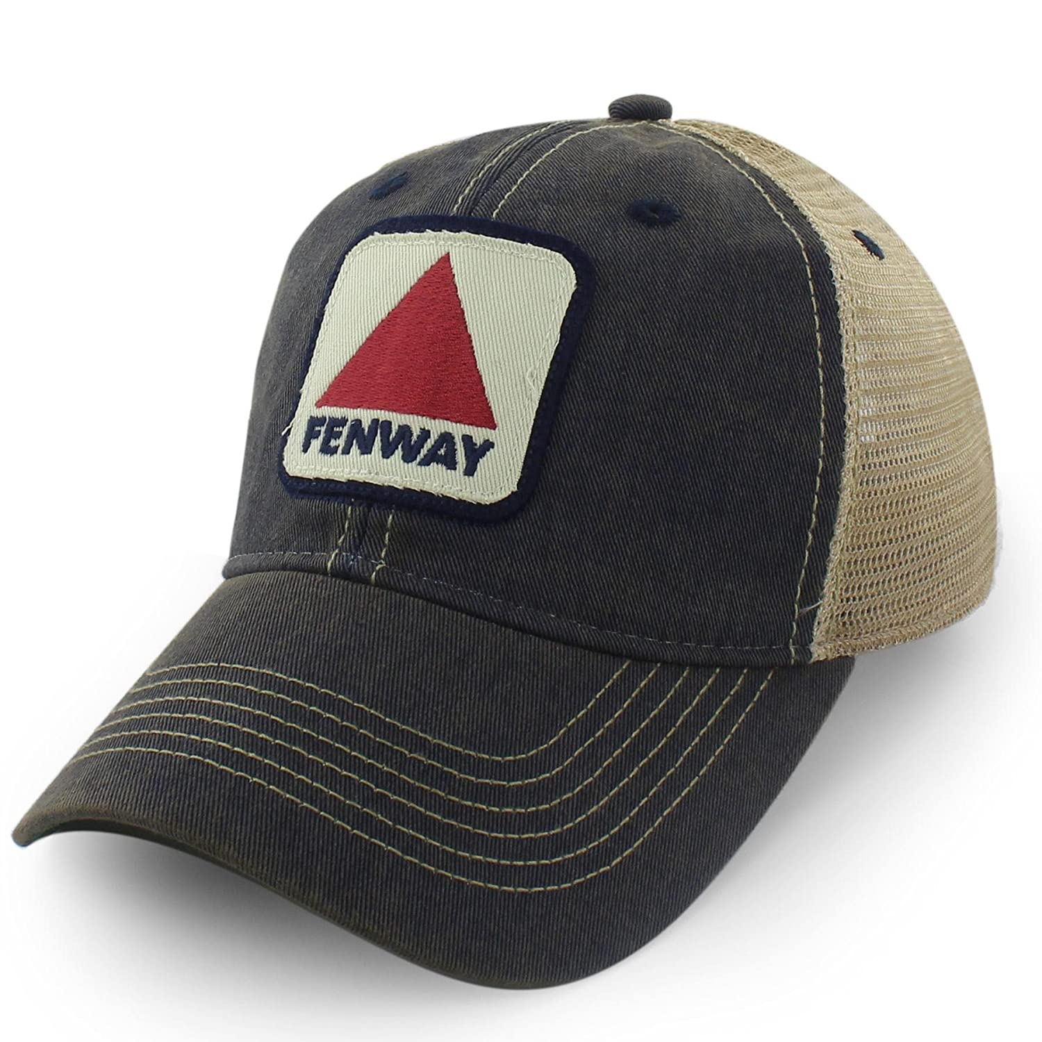 Chowdaheadz Fenway Patch Dirty Water Mesh Trucker Navy Hat at Amazon Men s  Clothing store  1bdf359d992