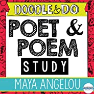 Maya Angelou Poet and Poem Study, Elements of Poetry, Nonfiction Text with Doodle Passage, Interactive Flip Books, Poetry Le
