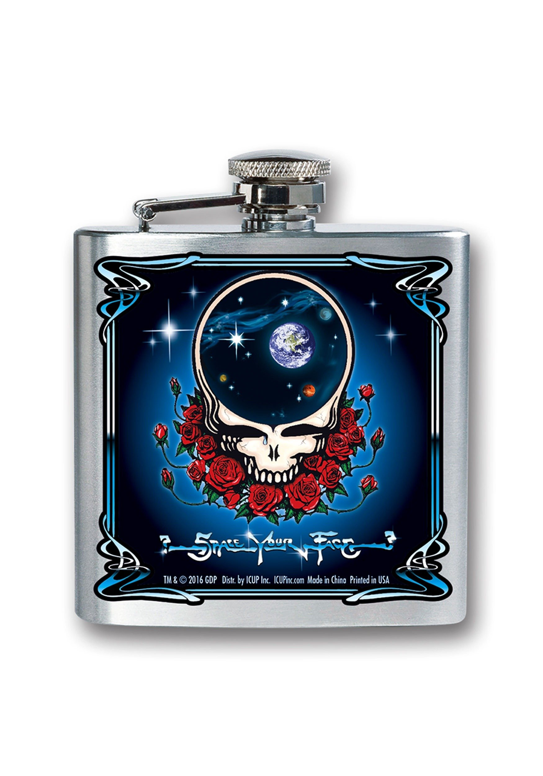Grateful Dead 8 oz Flask Standard