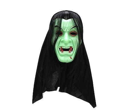 Komonee Dracula Vampiro Verde Traje Adulto máscara de ...