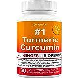 Best Turmeric Curcumin with BioPerine Black Pepper and Ginger. 15X High Potency with 95% Curcuminoids. Anti-inflammatory…