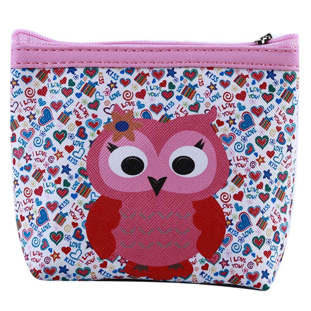 LZIYAN Cute Coin Purse Cartoon Owl Pattern Coin Purse Clutch Bag Portable Small Wallet With Zipper Storage Bag Creative Gift For Women,4# by LZIYAN (Image #1)