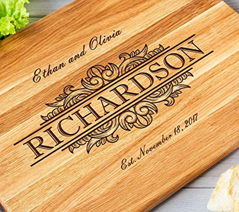 personalized gift Walnut wood board wedding gift oak cutting board anniversary gift wooden cutting board housewarming gift