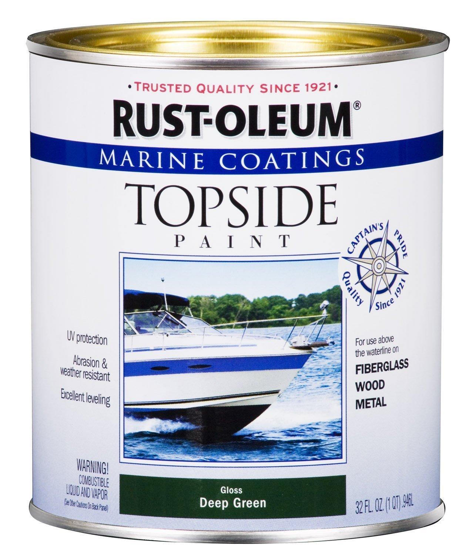 Rust-Oleum 207007 Marine Topside Paint, Deep Green, 1-Quart - 4 Pack