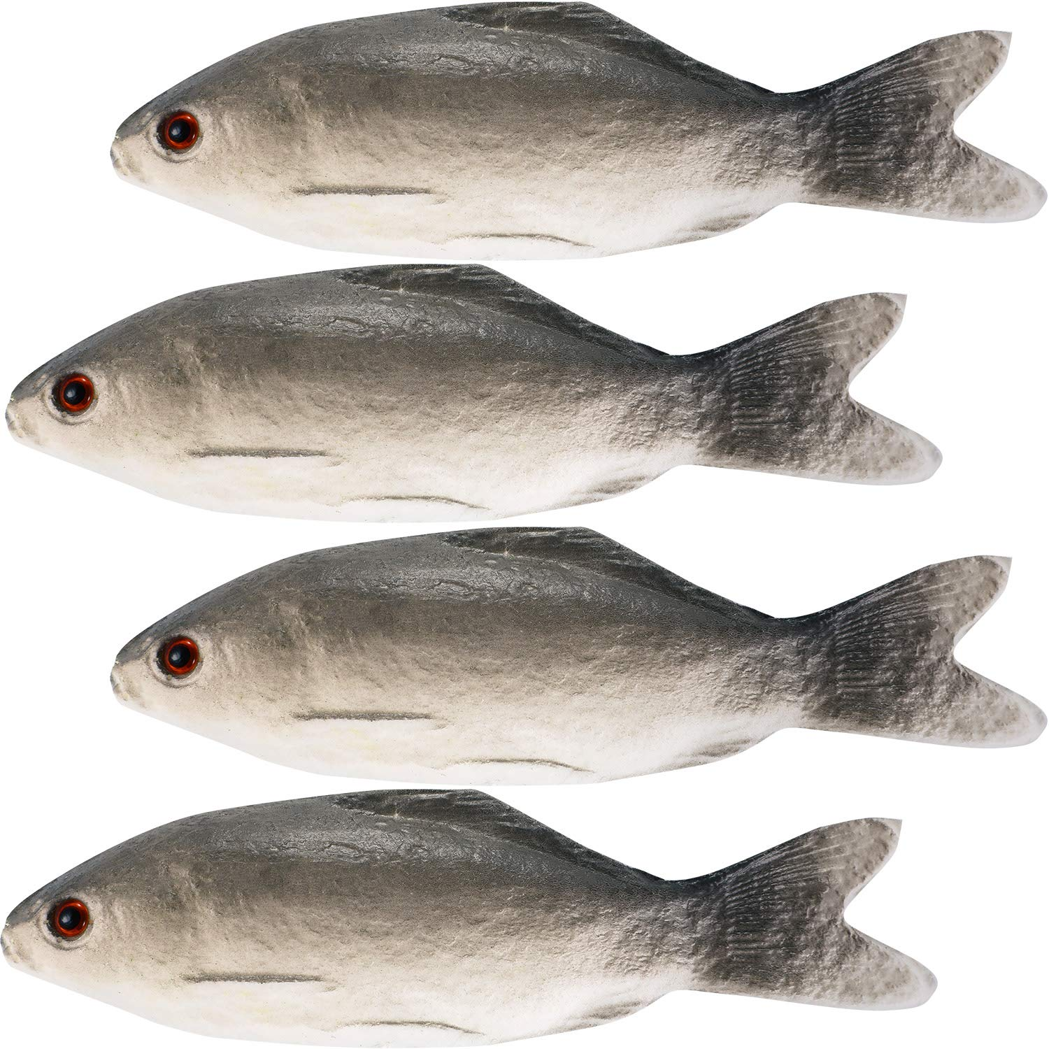 Gejoy 4 Pieces Fake Fish Simulated Fish Artificial Sea Fish Model for Home Party Market Display Kids Toy Kitchen Decoration Photography Props by Gejoy