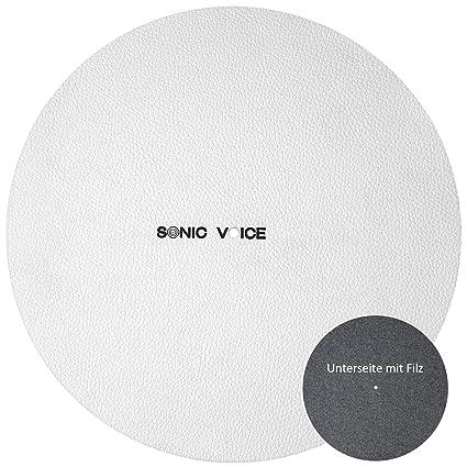 Funda de piel blanca para tocadiscos de Sonic Voice. De piel ...