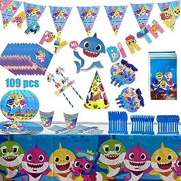 Artículos De Fiesta De Cumpleaños For Niños Tema De Dibujos Animados Vajilla Desechable Plato De Papel Sombrero Set De Mantel Adecuado For Niños ...