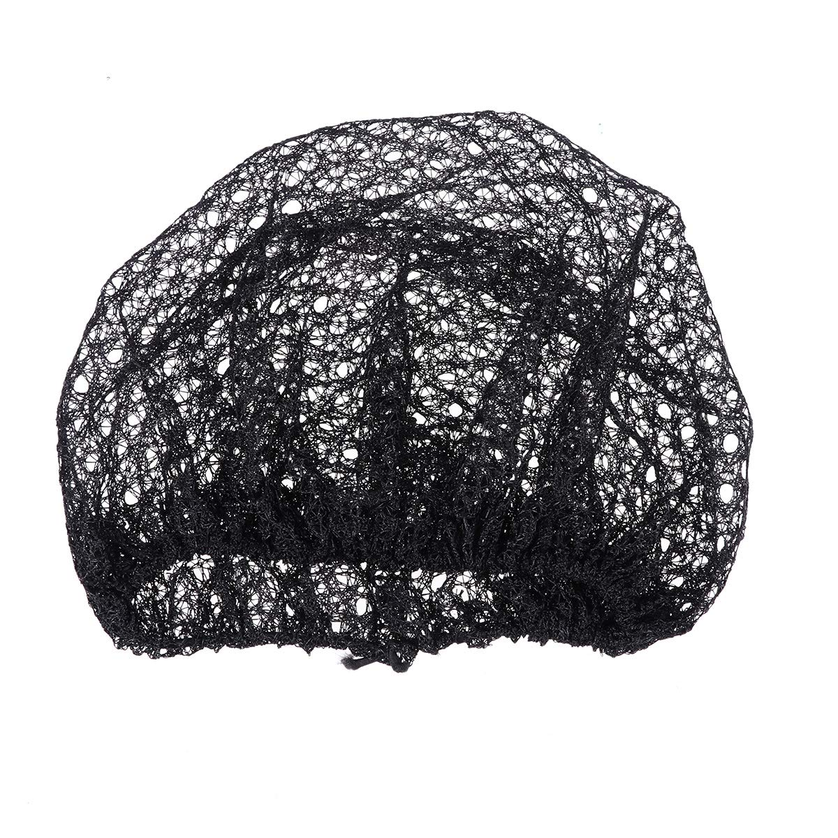 Lurrose 12Pcs Hair Net Elastic Mesh Caps Head Covers Free Size for Cosmetics Kitchen Cooking