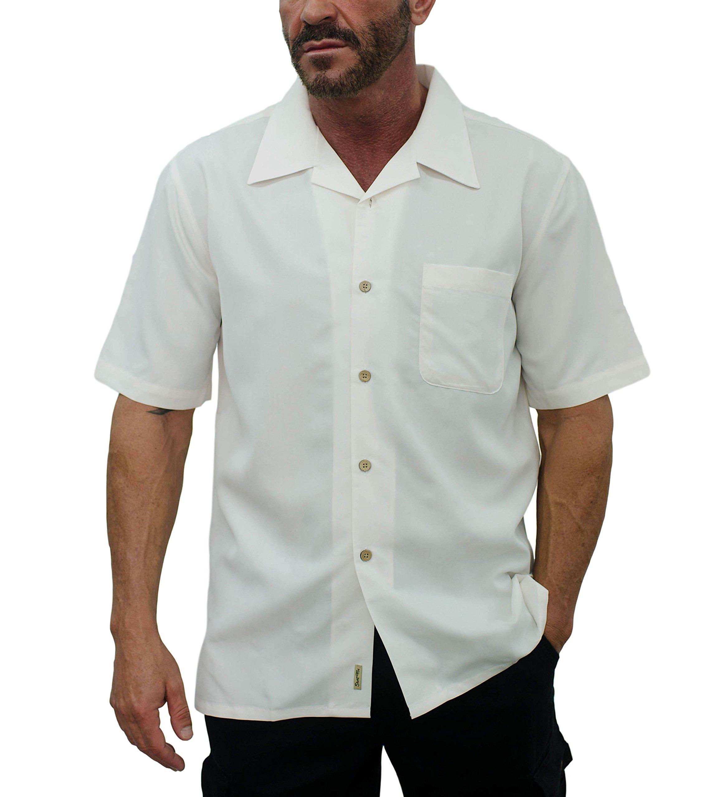 Short Fin short sleeve modal shirt (Natural, Size X Large, L8045)