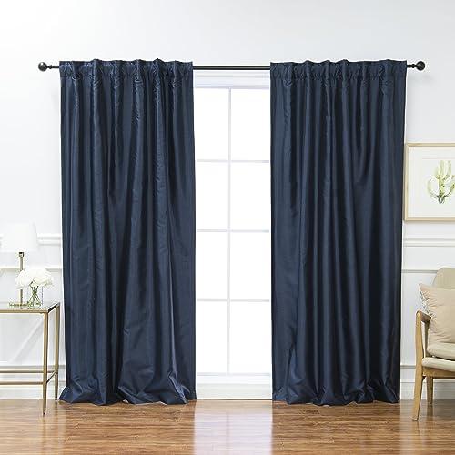 Best Home Fashion Premium Faux Silk Blackout Curtains - a good cheap window curtain panel