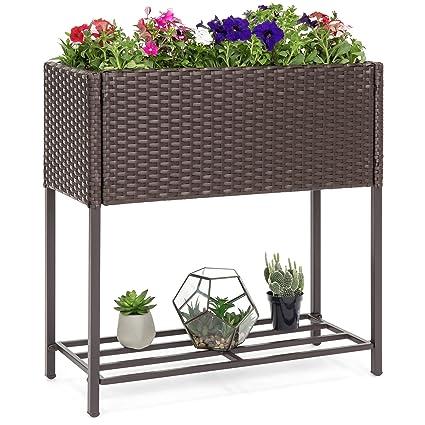 Amazon Com Best Choice Products 2 Tier Indoor Outdoor Patio Wicker