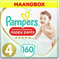 Pampers Premium Protection Pants Maat 4, 9-14kg, 160 Luierbroekjes, Maandbox