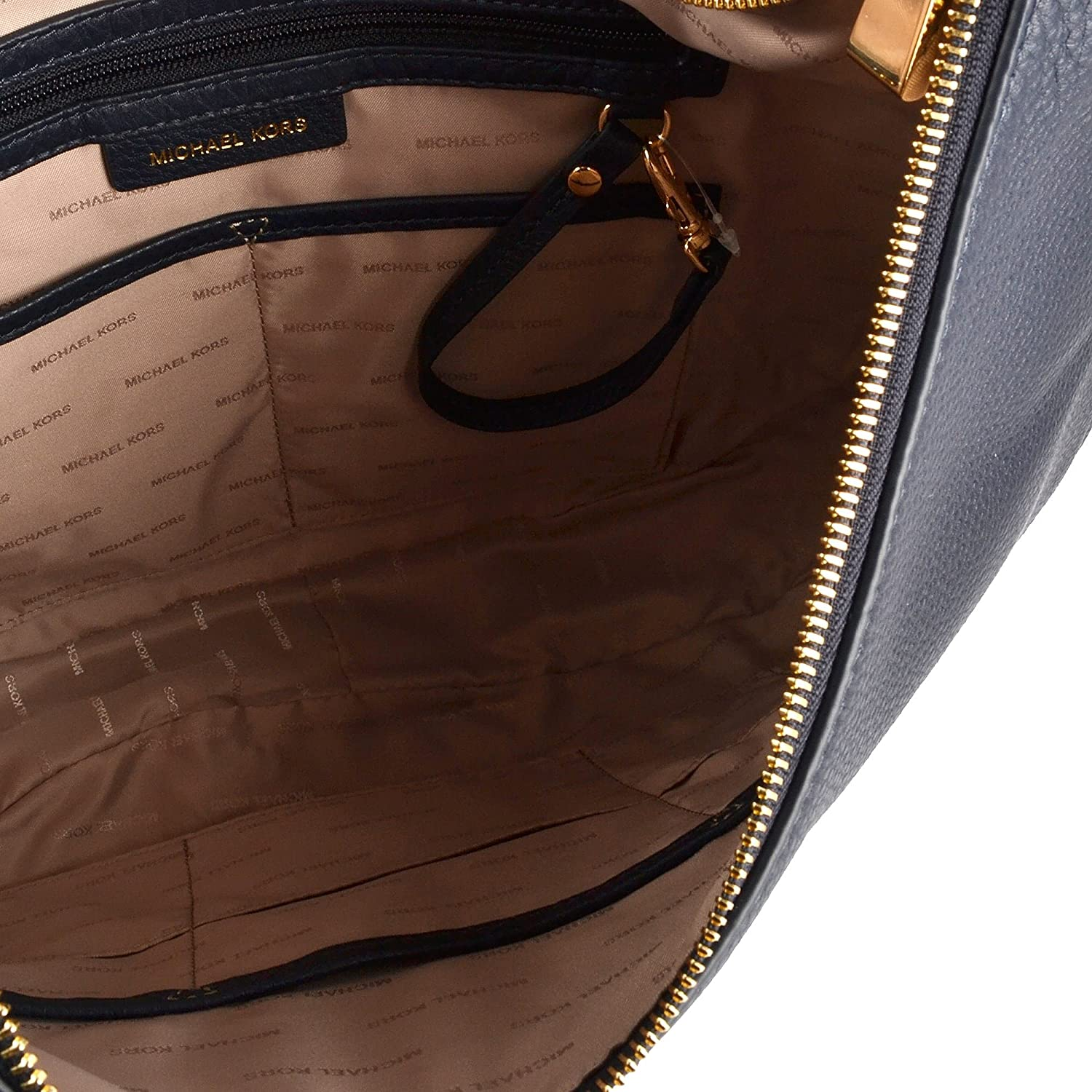 9932bfcb610c MICHAEL by Michael Kors Lydia Admiral  Navy  Leather Large Hobo Bag one  size Admiral  Amazon.co.uk  Shoes   Bags