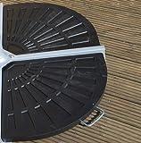 Bentley Garden Patio Banana Umbrella Parasol Base Weights Stand - 2 Segments