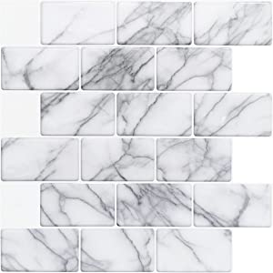 Art3d 10-Sheet Peel and Stick Backsplash Tile for Kitchen (12