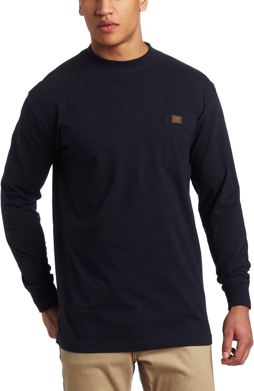 Wrangler Riggs Workwear Men's Long Sleeve Pocket T-Shirt: Clothing