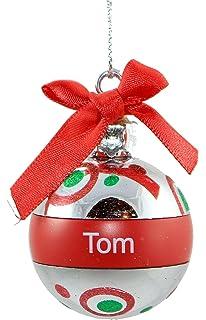 Cute GANZ Personalized Name Snowman Snow Globe Ornament My Favorite Teacher