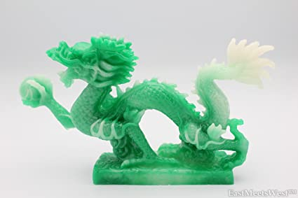 191e5771f Amazon.com: Chinese Jadeite Lucky Feng Shui Protection Dragon For ...