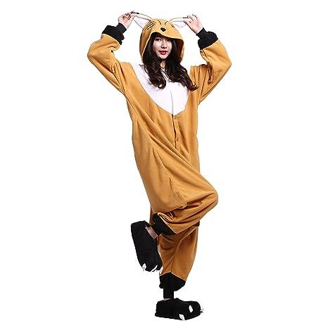 PALMFOX Unisex Adulto Onesie Anime Kigurumi Trajes Disfraz Cosplay Animales Pijamas Pyjamas Ropa De Dormir