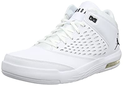 detailed pictures a34d5 f7322 Nike Jordan Flight Origin 4 BG, Chaussures de Basketball Garçon, Blanc Cassé  (Whiteblack