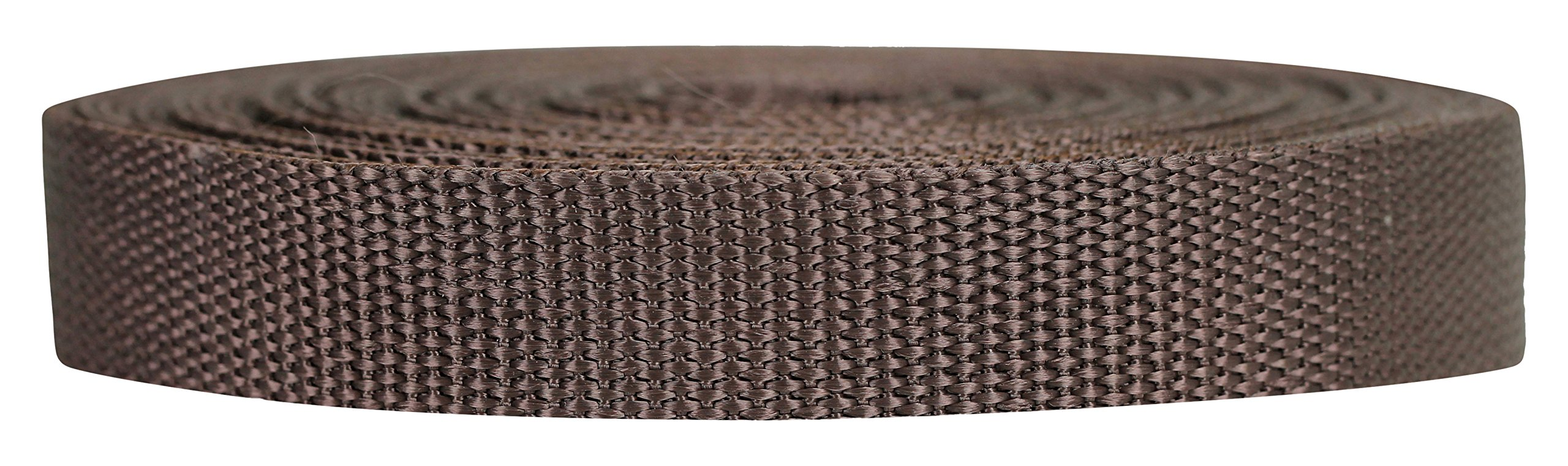 Strapworks Heavyweight Polypropylene Webbing - Heavy Duty Poly Strapping for Outdoor DIY Gear Repair, 3/4 Inch x 25 Yards, Brown by Strapworks