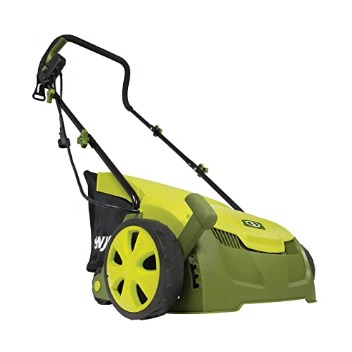 Sun Joe AJ801E 13 in. 12 Amp Electric Scarifier Lawn Dethatcher w Collection Bag