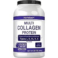 Multi Collagen Protein Powder 32 oz   Unflavored Collagen Peptides   Type I, II, III, V, X   Keto & Paleo Friendly Non…