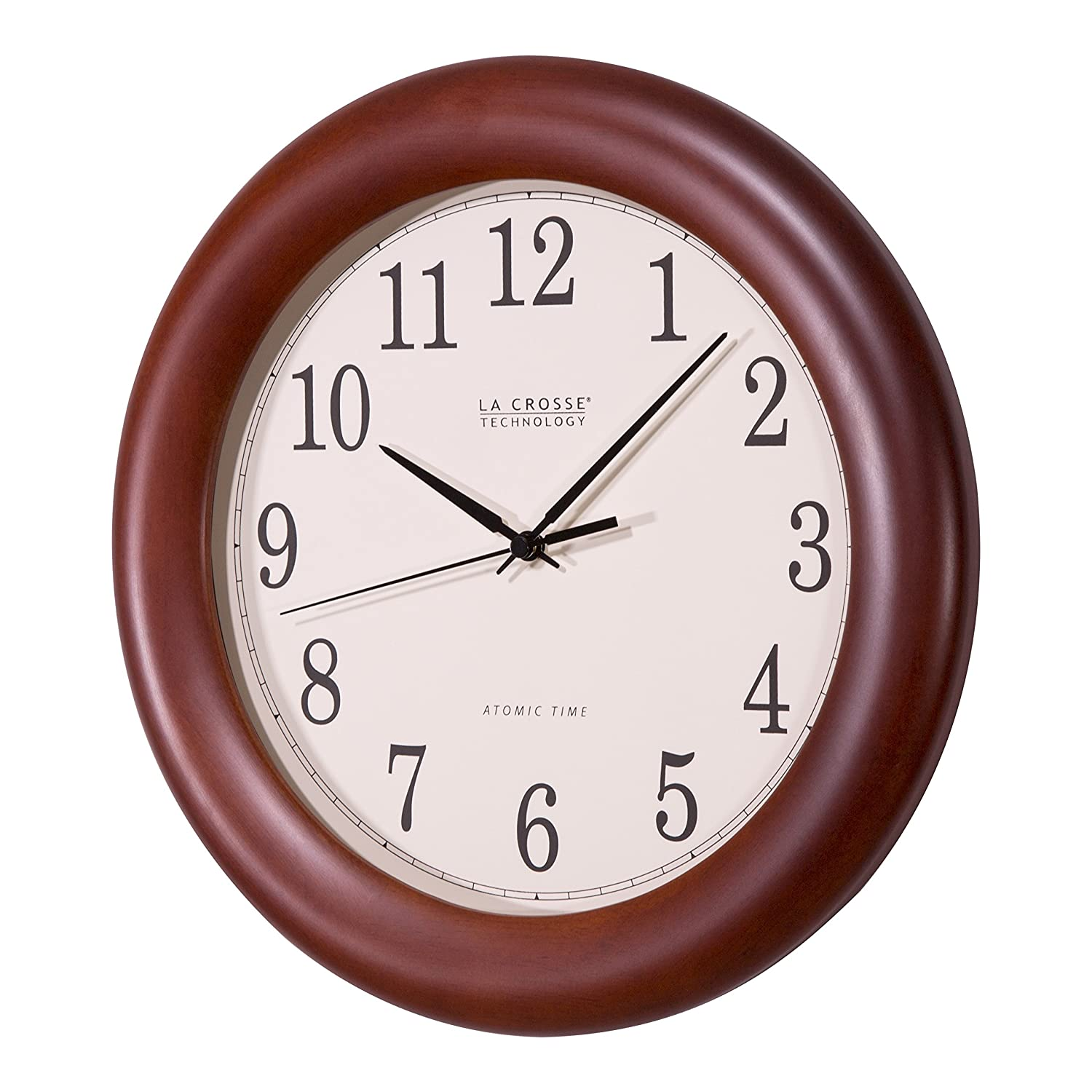 La Crosse Technology WT-3122A Mechanical wall clock Círculo Madera - Reloj de pared (AA, Madera, 31,8 cm): Amazon.es: Hogar