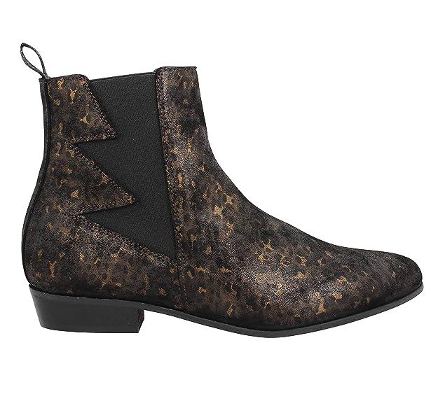 Schmoove Cuir Boots Peckham Noir Femme 5Rj4AL