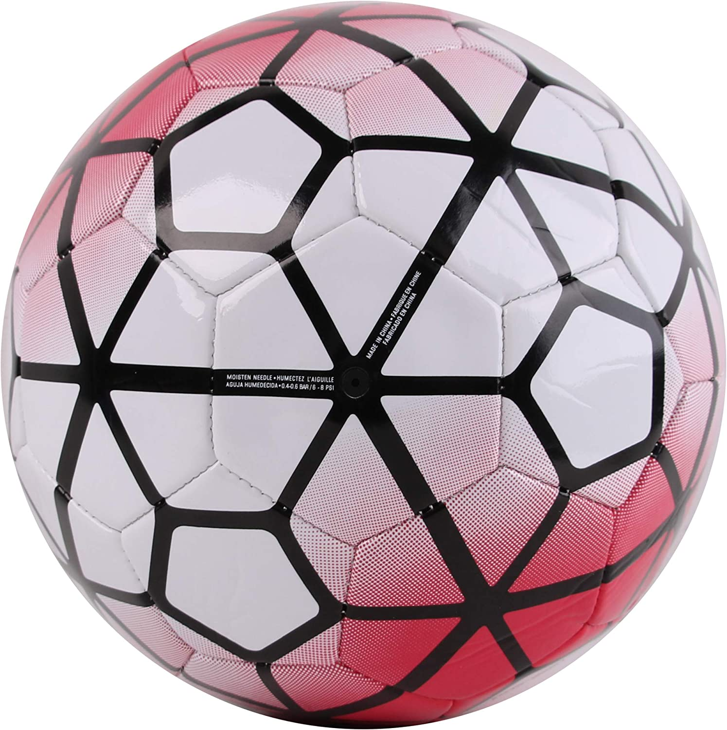 Top Grade 32 Panels and Machine Stitched for Outdoor All Weather PVC Pro Impact Training Soccer Ball Attractive Design Durable Professional Matches Sports Official Size : 5