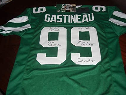 Signed Mark Gastineau Jersey - Hof sack Exchange 79 Sacks Gridiron ... 5ed5cd916