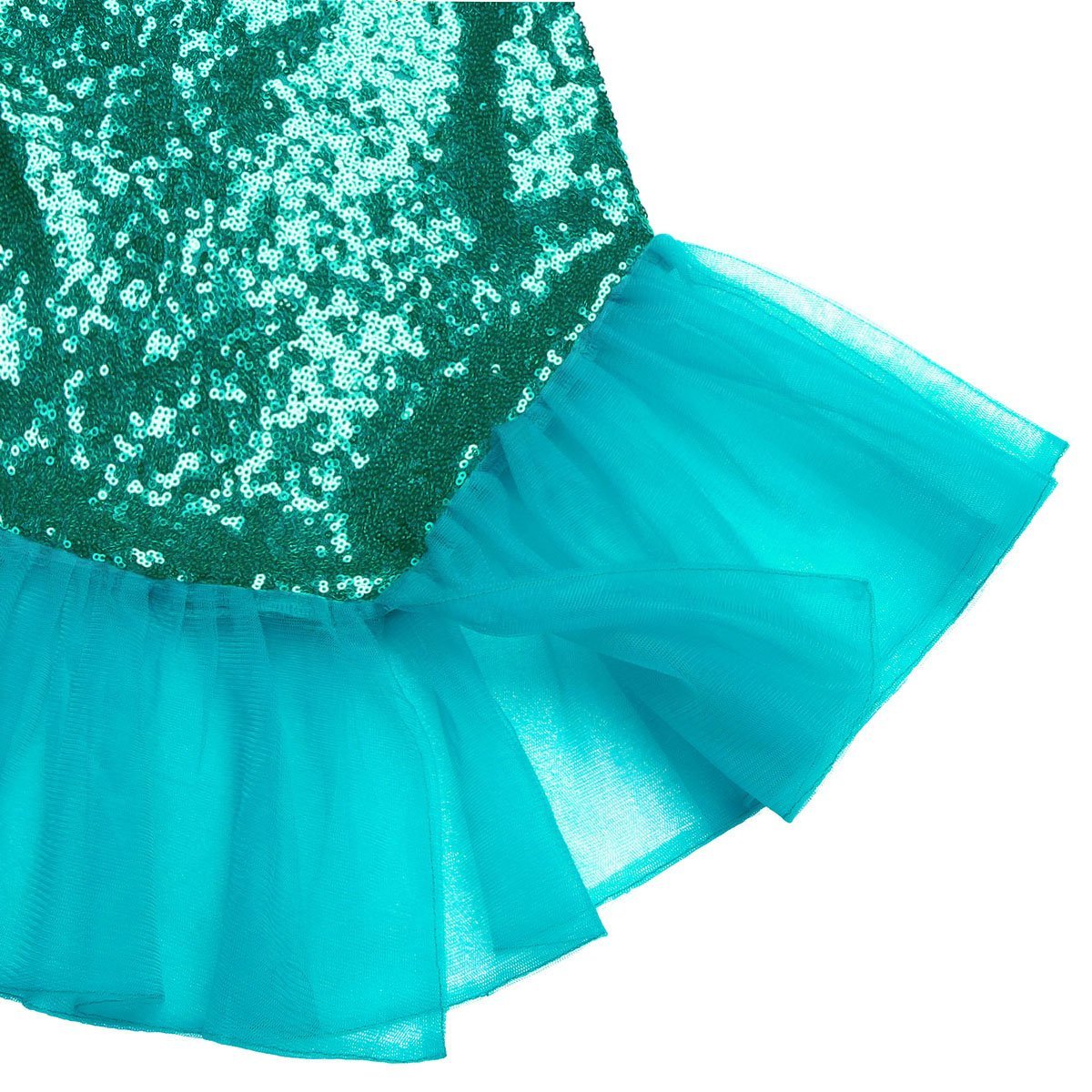 Agoky 2PCS Kids Girls Mermaid Costume Outfit Crop Top with Sequins Fishtail Skirt Set Purple/&Green 2 Years
