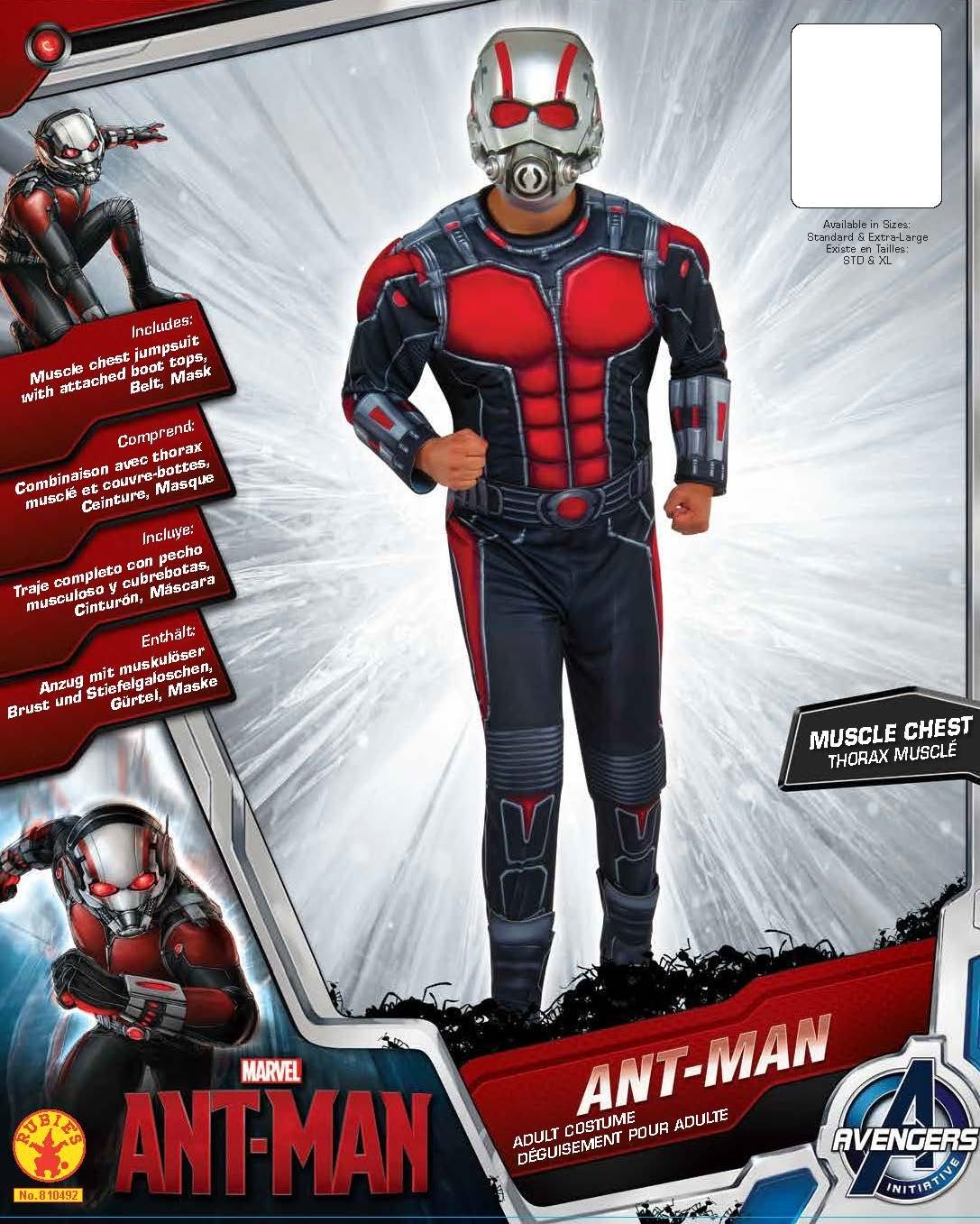 Rubies s Oficial Ant-Man Deluxe, Disfraz para Adultos - X-Large: Amazon.es: Juguetes y juegos
