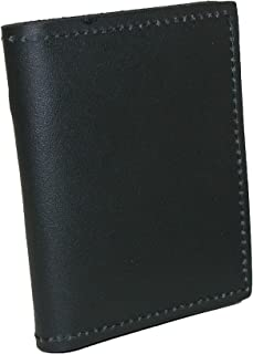 product image for Boston Leather Leather Book Style Bifold Badge Holder Wallet, Black