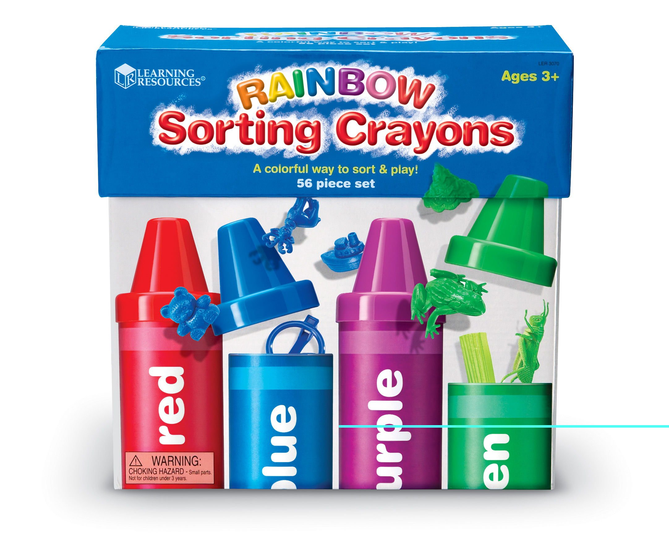 Learning Resources Rainbow Sorting Crayons, Various Colors, 56 Pieces by Learning Resources (Image #5)